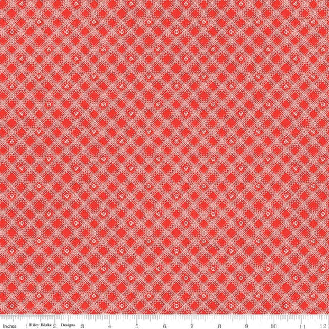 Riley Blake From The Heart C10056 Red Plaid By The Yard
