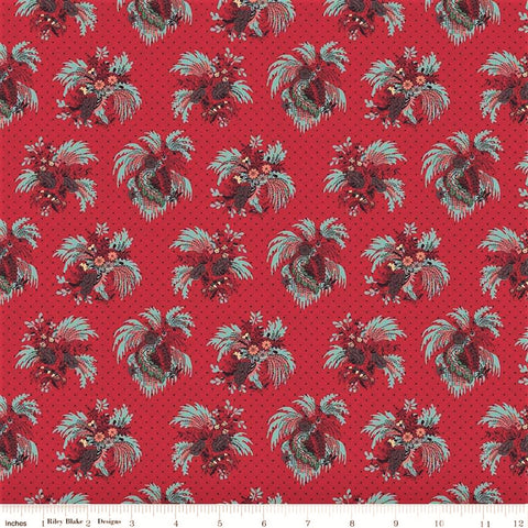 Penny Rose Charlotte C8431 Red Fountain of Flora By The Yard