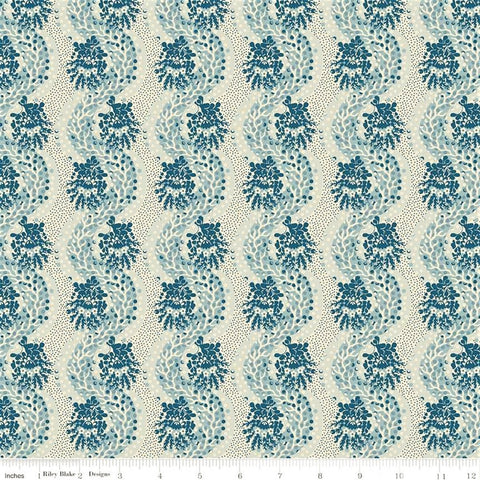 Penny Rose Charlotte C8433 Blue Stripes Of Weaving Paths By The Yard