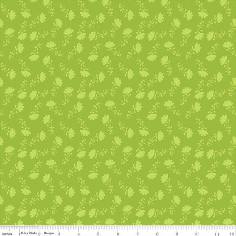 Riley Blake Lucy's Garden C8644 Green Tonal Floral By The Yard