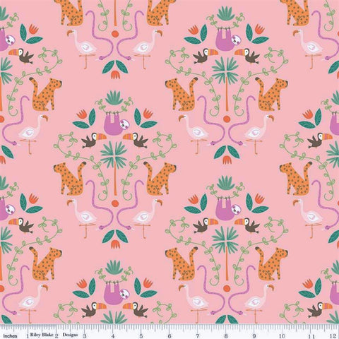 Riley Blake Under The Canopy C8660 Pink Jungle Motif By The Yard