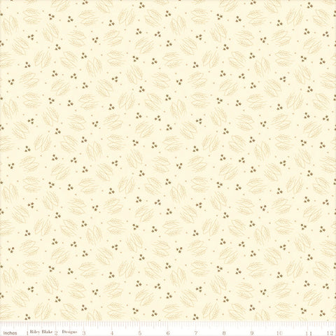 Riley Blake Lumberjack Aaron C8701 Cream Evergreen Branches By The Yard