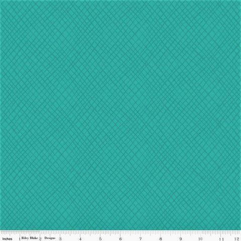 Riley Blake Wildflower Boutique C8834 Teal Tonal Plaid By The Yard