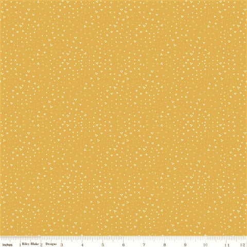 Riley Blake Fossil Rim 2 - C8874 Yellow Terrain By The Yard