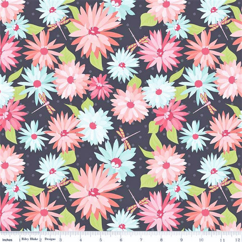 Riley Blake Paper Daisies C8880 Gray Daisy Delight By The Yard