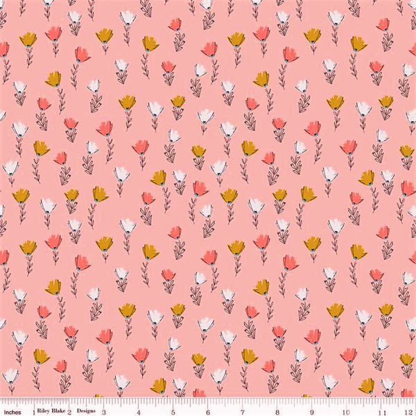 Riley Blake Petals & Pots C8973 Pink Fields By The Yard