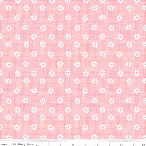 Riley Blake Petals & Pots C8974 Pink Button Flower Plaid By The Yard