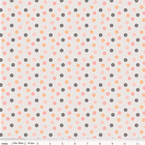 Riley Blake A Little Bit Of Sparkle C8985 White Dot By The Yard