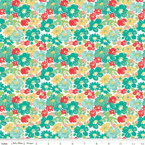 Riley Blake Vintage Happy 2 C9130 Vivid Vintage Floral By The Yard