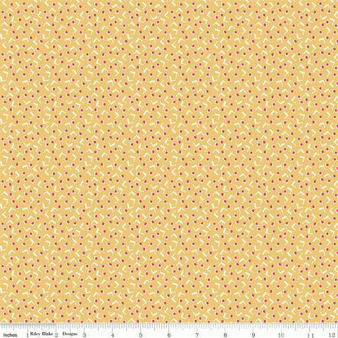 Riley Blake Vintage Happy 2 C9132 Honey Tiny Squares By The Yard
