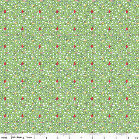 Riley Blake Vintage Happy 2 C9141 Green Leaves By The Yard