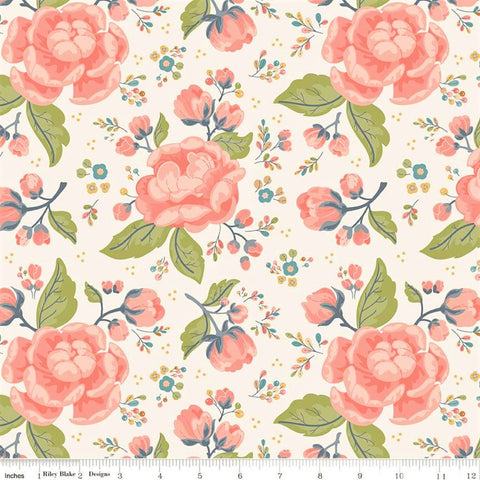 Riley Blake Charmed C9340 Cream Charmed Flowers By The Yard