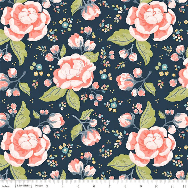 Riley Blake Charmed C9340 Midnight Charmed Flowers By The Yard