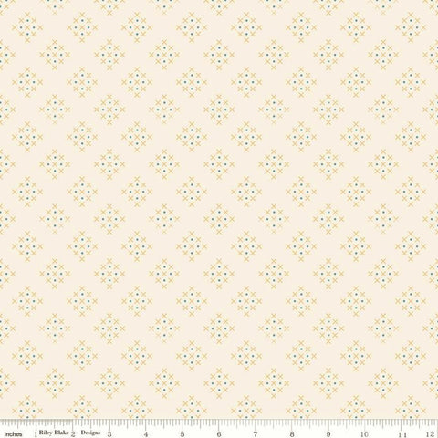 Riley Blake Charmed C9345 Cream Criss Cross By The Yard