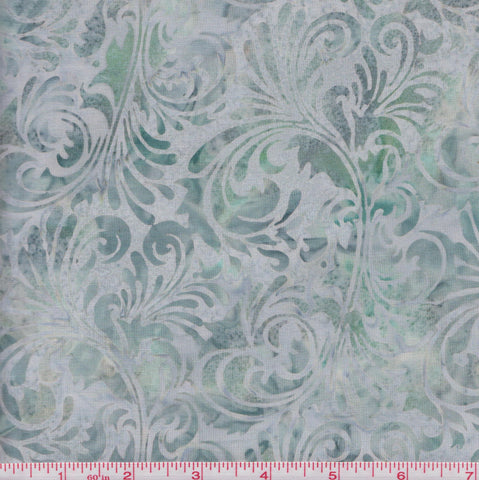 Hoffman Bali Batiks COU 2010 Mint Swirls by the yard