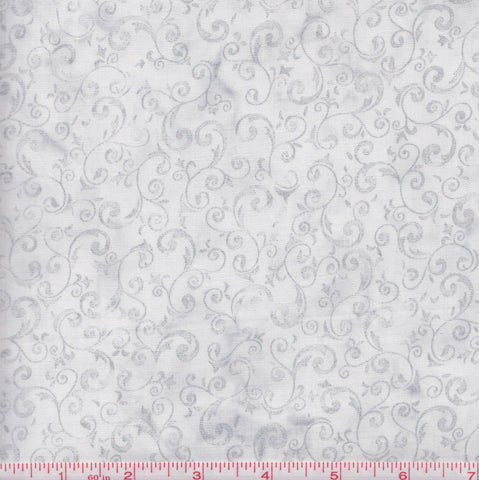 Hoffman Bali Batiks COU 2002 Silver Metallic Swirls by the yard