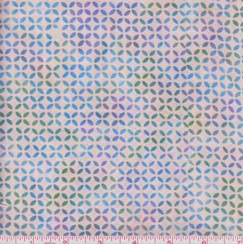 Hoffman Bali Batiks COU 2009 Blue Cross Stitch by the yard