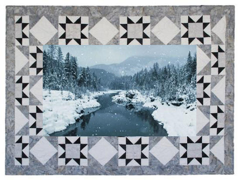 Hoffman Call Of The Wild Quilt Border Kit CWBKIT 176 - ICE