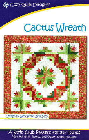 Cozy Quilt Designs Pattern - CACTUS WREATH