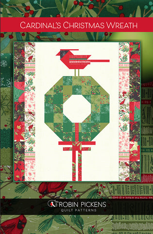 CARDINAL'S CHRISTMAS WREATH - Robin Pickens Quilt Pattern