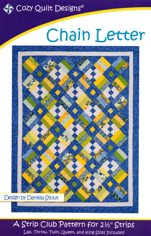 CHAIN LETTER - Cozy Quilt Designs Pattern DIGITAL DOWNLOAD