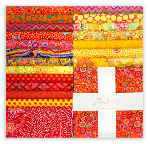 "Free Spirit Kaffe Fassett Pre-Cut 42 Piece Ten Squares 10"" Layer Cake - Citrus"