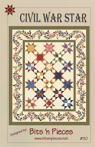 CIVIL WAR STAR - Quilt Pattern By Bits 'N Pieces #110