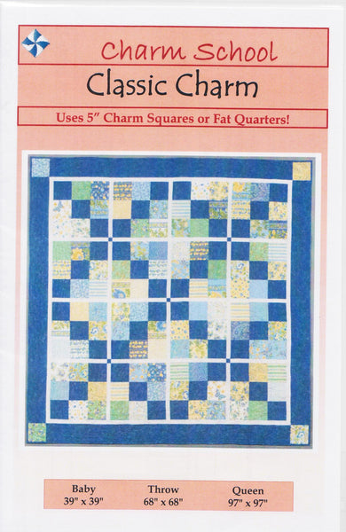 "Cozy Quilt Designs Classic Charm A Pattern For 5"" Squares Or Fat Quarters"