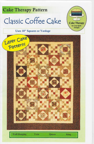 Cozy Quilt Designs Cake Therapy Pattern CLASSIC COFFEE CAKE