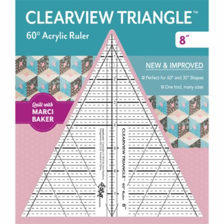 "Moda Clearview Triangle 8"" Ruler"