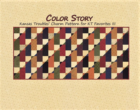 COLOR STORY - Kansas Troubles Quilters' Pattern KT 55035