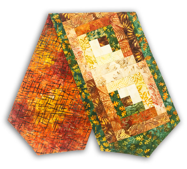 Kaufman & Hoffman Medley Batiks Pre-Cut Log Cabin Table Runner Kit - Cornucopia 4