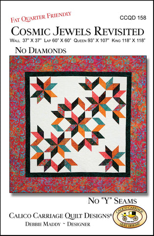 COSMIC JEWELS REVISITED - Calico Carriage Quilt Designs Pattern CCQD158