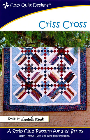 Cozy Quilt Designs Pattern -  CRISS CROSS