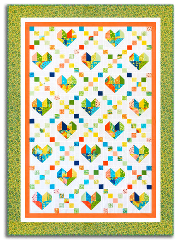 Cross My Heart VIDEO BUNDLE Quilt Kit - Includes Pre-Cut Moda Jelly Roll - SOLANA Robin Pickens