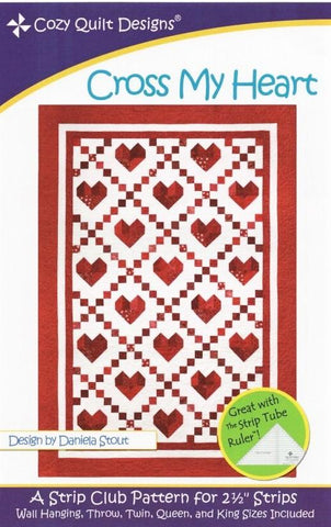 CROSS MY HEART - Cozy Quilt Designs Pattern DIGITAL DOWNLOAD