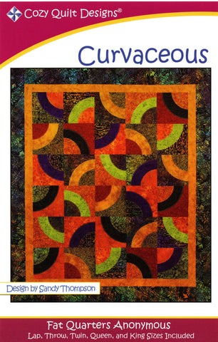 CURVACEOUS - Cozy Quilt Designs Pattern DIGITAL DOWNLOAD