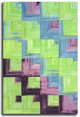 Fresh Batiks Laurel Burch Cutting Corners Pre-Cut Quilt Kit - Lime Flying Colors