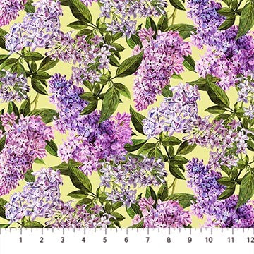 Northcott Chelsea DP23058 72 Pale Green Lilacs By The Yard