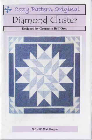 DIAMOND CLUSTER - Cozy Quilt Pattern DIGITAL DOWNLOAD