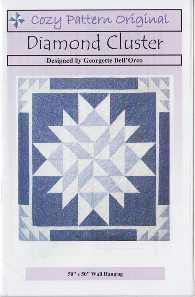 DIAMOND CLUSTER - Cozy Quilt Pattern
