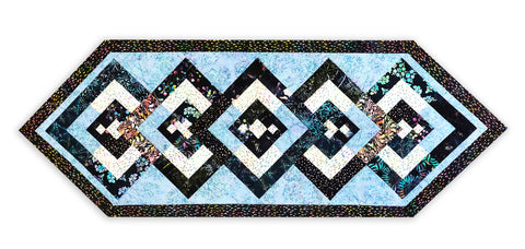 Hoffman Batiks VIDEO BUNDLE Table Runner Kit - Diamond Medley