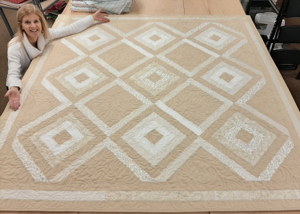 Diamond Mine VIDEO BUNDLE Quilt Kit With Pre-cut Jelly Roll - Gold