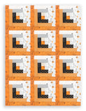 Moda Halloween PRE-CUT 12 Block Log Cabin Quilt Kit - Dot Dot Boo