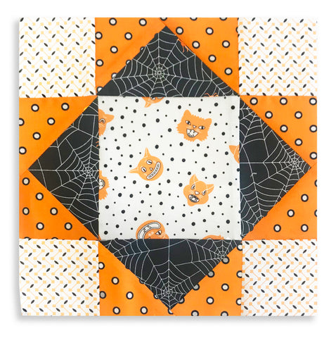 Moda Fabrics Pre-Cut 12 Block King's Crown Quilt Kit - Dot Dot Boo