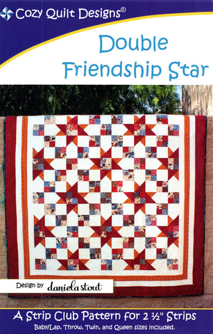 Cozy Quilt Design Pattern - DOUBLE FRIENDSHIP STAR