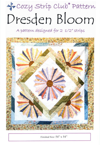 DRESDEN BLOOM - Cozy Quilt Design Pattern