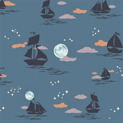 Art Gallery Fabrics Enchanted Voyage ENV 61785 Shadow Offshore Dream By The Yard