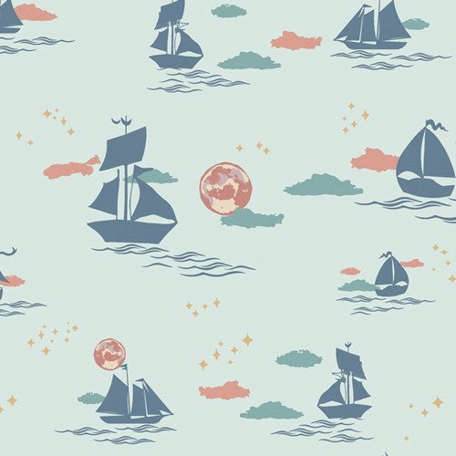 Art Gallery Fabrics Enchanted Voyage ENV 71785 Breeze Offshore Dream By The Yard