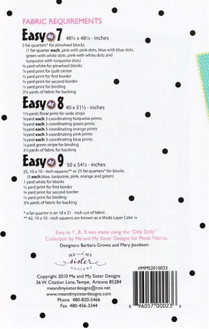 EASY AS 7 8 9 - Me & My Sister Designs Pattern
